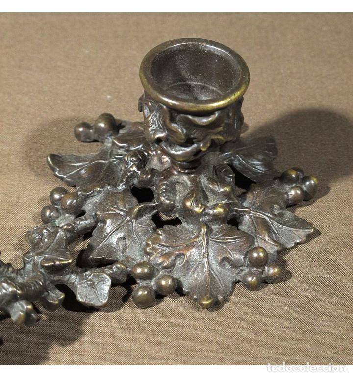 Vintage: Palmatoria de mano uvas en Bronce a la cera perdida - Foto 3 - 101012731