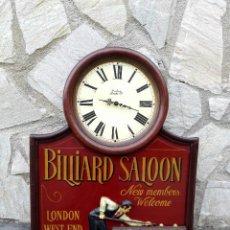 Vintage: LETRERO RELOJ SALÓN DE BILLAR. Lote 101514643