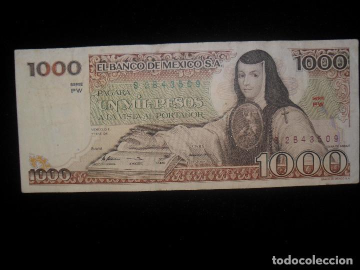 Vintage: Billete México 1000 pesos - Foto 2 - 101719639