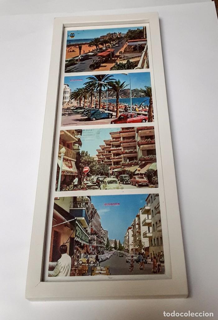 marco con 4 postales de las calles de benidorm - Comprar en ...