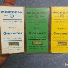 Vintage: LOTE -TRES 3 - MICROPACK AUDIVISUAL RETRO VINTAGE. Lote 102071227