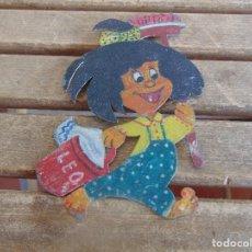 Vintage: FIGURA EN CHAPA DECORADA PINTADA DE LA FAMILIA TELERIN O SIMILAR . Lote 102151591
