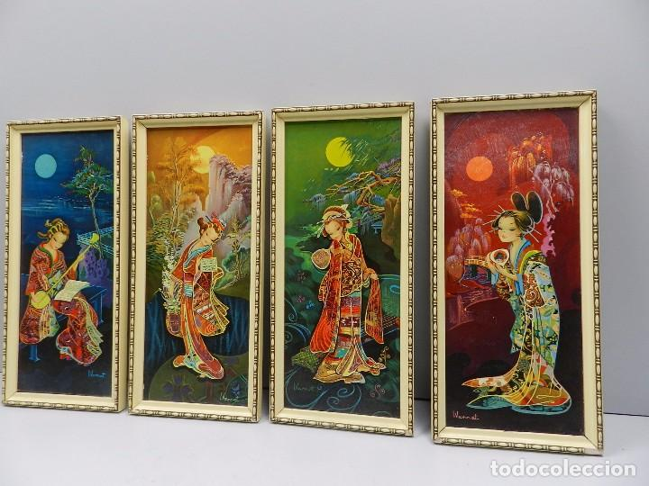 Juego des cuadros marcos dorados kitsch vintage comprar for Comprar cuadros bonitos
