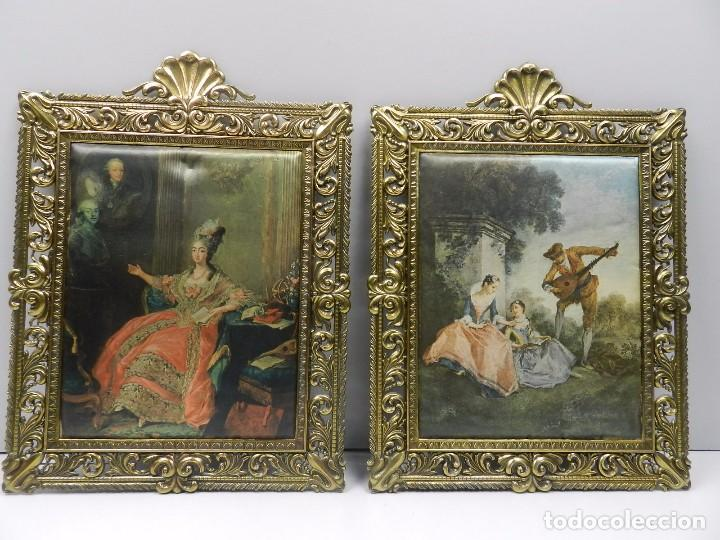 Pareja de cuadros de escenas medievales marcos comprar - Marcos de cuadros vintage ...
