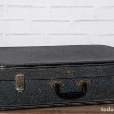 Vintage: MALETA DE VIAJE AÑOS 50 EN GRIS OSCURO GLADIATOR. Lote 102799488