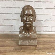 Vintage: BUSTO DE BENITO PÉREZ GALDÓS POR EL ESCULTOR F.RIVERO. Lote 102802923