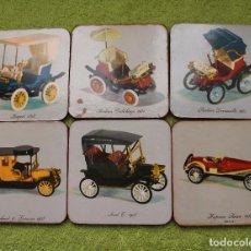 Vintage: LOTE 6 POSAVASOS DE COCHES ANTIGUOS-VINTAGE AÑOS 60-70. Lote 102842291