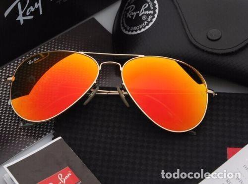 gafas ray ban cristal naranja