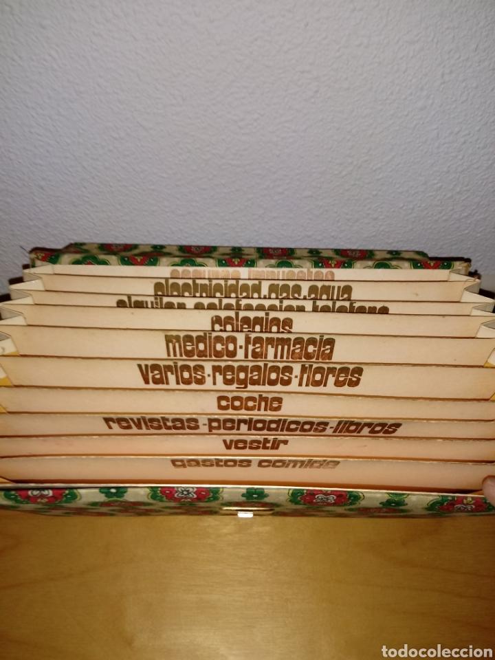 Vintage: Carpeta o cartera clasificadora de contabilidad y facturas. Años 60 - Foto 7 - 104394095