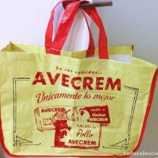 Vintage: BOLSA GRANDE DE COMPRA AVE CREMA. Lote 104426823