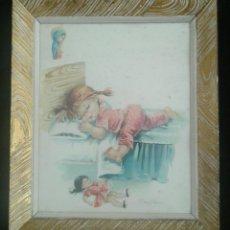 Vintage: CUADRO INFANTIL CONSTANZA. Lote 104598438