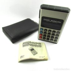Vintage: ANTIGUA CALCULADORA VINTAGE CASIO POCKET-MINI-FUNDA E INSTRUCCIONES-FUNCIONA-ORIGINAL AÑOS 70-JAPAN. Lote 104700263