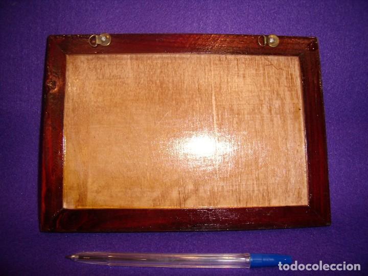 Vintage: Cuadro coche madera, años 70,medidas, 23 x 16 cm, Nuevo. - Foto 2 - 104705203