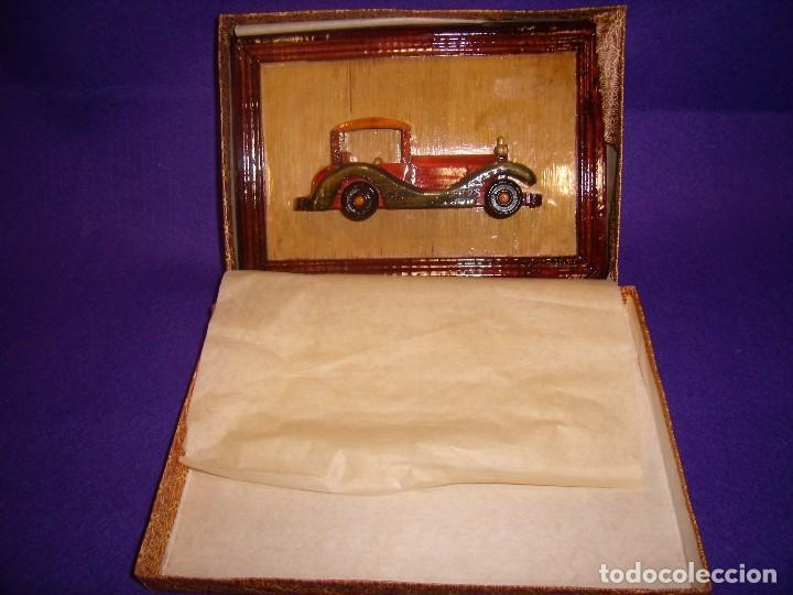 Vintage: Cuadro coche madera, años 70,medidas, 23 x 16 cm, Nuevo. - Foto 3 - 104705203