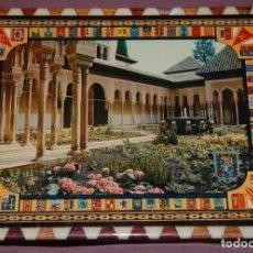 Vintage: PATIO DE LOS LEONES EN MARCO DE TARACEA GRANADINA. Lote 104916143