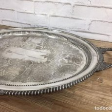 Vintage: BANDEJA SILVER PLATED LONSDALE SHEFFIELD INGLATERRA 76X47 CM. Lote 105260804