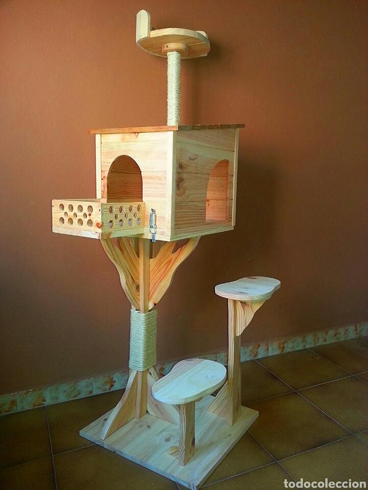 Arbol rascador gatos casa madera comprar en - Casas para gatos de madera ...