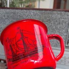 Vintage: TAZAS HIERRO ESMALTADO. Lote 107979831