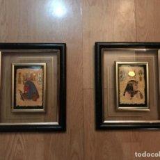 Vintage: CUADROS EN METAL DE IMITACION PAPIRO. Lote 108267135