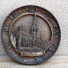 Vintage: PLATO EN RELIEVE RECUERDO DE BRUSELAS BÉLGICA . Lote 108935271