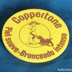 Vintage: ANTIGUO Y ORIGINAL ESPEJO PUBLICITARIO - COPPERTONE - BOLSILLO O VIAJE - PUBLICIDAD - PIEL SUAVE. Lote 109126435