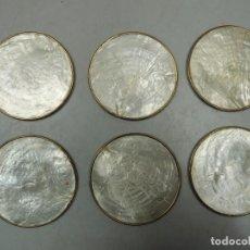 Vintage: POSAVASOS DE NÁCAR -.AÑOS 60-70. Lote 109413675