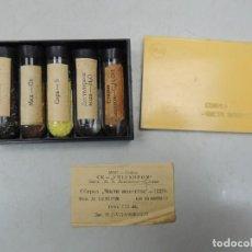 Vintage: ANTIGUO KIT QUÍMICO DE ESCUELA O UNIVERSIDAD PRUEBAS TUBOS DE ENSAYO EN CAJA AÑOS 70 . Lote 109414291