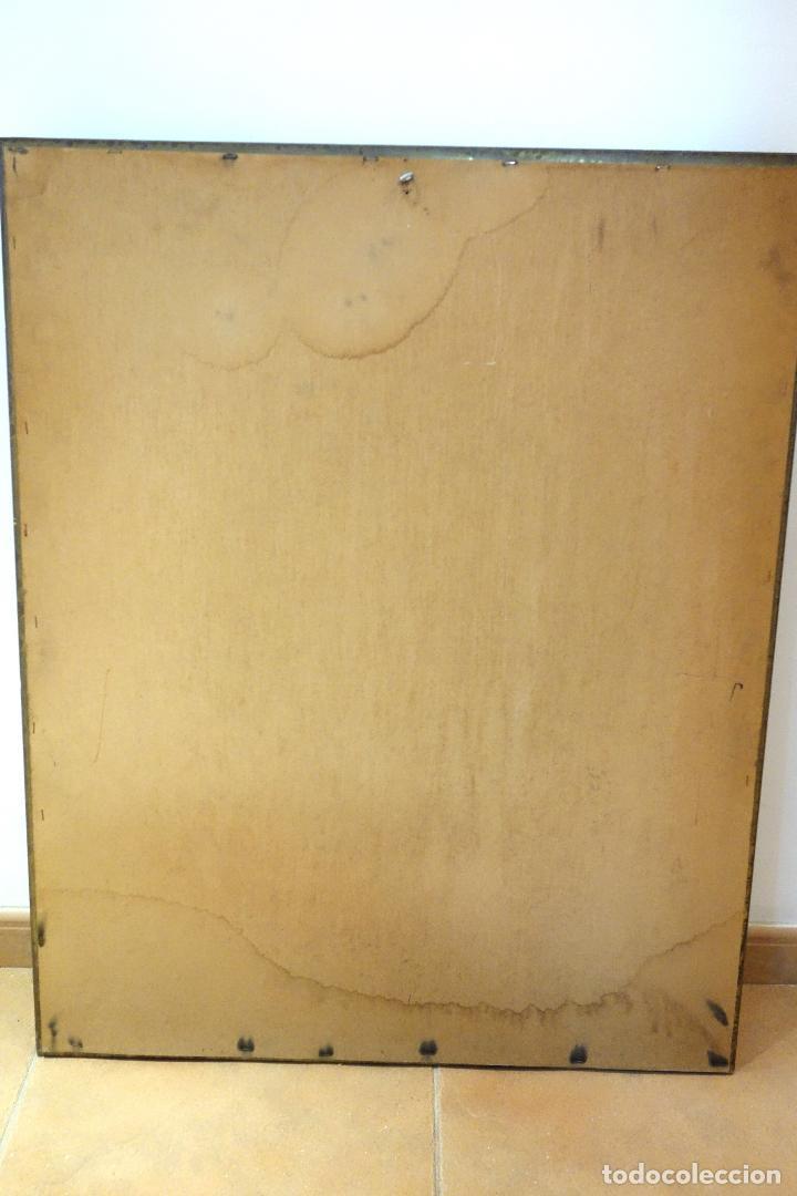 gran espejo vintage madera con marco en cristal - Comprar en ...