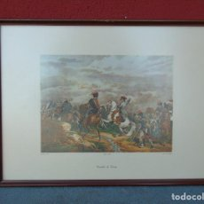 Vintage: MARCO DE MADERA CON LÁMINA COMBAT DE TARVIS. Lote 109725095