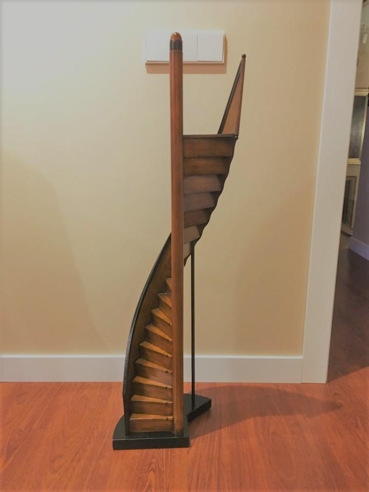 modelo escalera de caracol de madera biblioteca 1 m altura vintage decoracin varios - Escaleras Madera