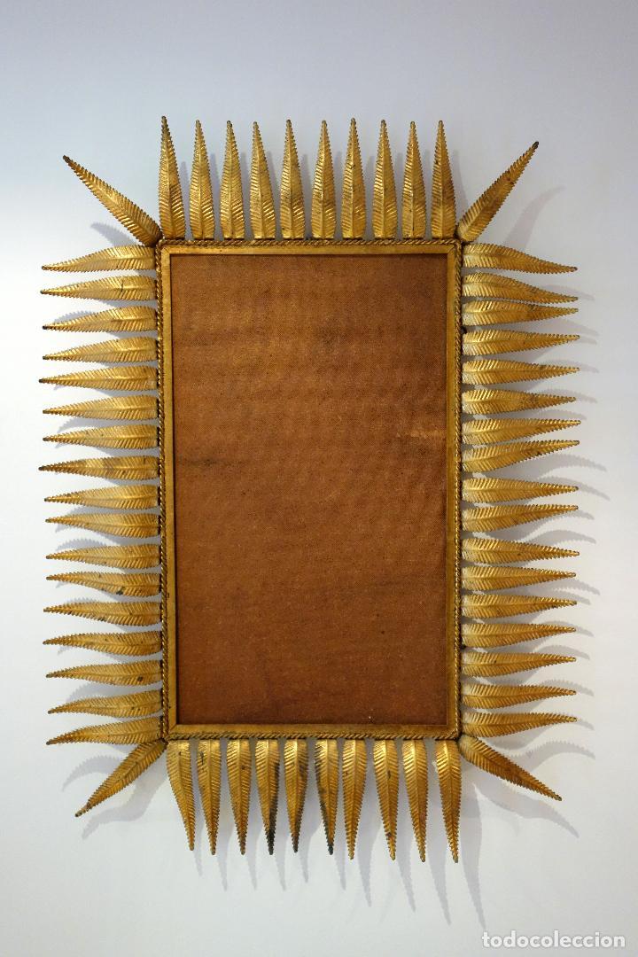 gran espejo vintage con marco de hojas años 60 - Comprar en ...