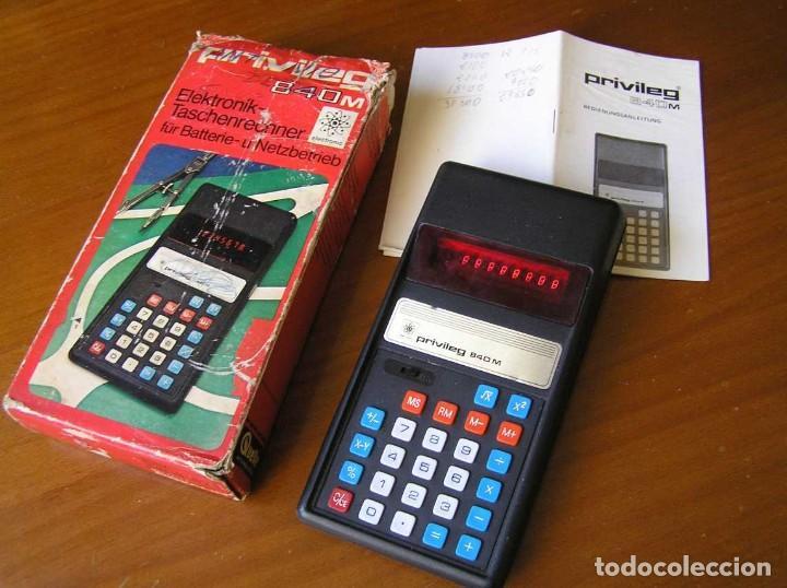 ANTIGUA CALCULADORA PRIVILEG 840 M DE LOS AÑOS 70 FUNCIONANDO CALCULATOR ELEKTRONIK-TASCHENRECHNER (Vintage - Varios)