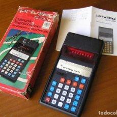 Vintage: ANTIGUA CALCULADORA PRIVILEG 840 M DE LOS AÑOS 70 FUNCIONANDO CALCULATOR ELEKTRONIK-TASCHENRECHNER. Lote 110878835