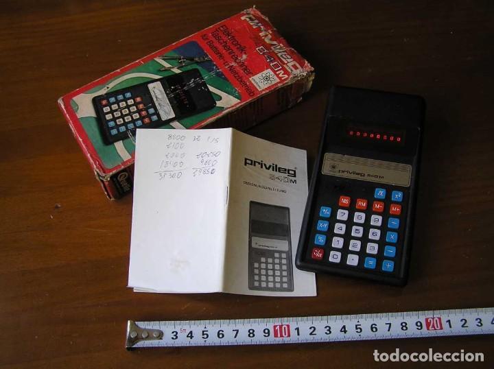 Vintage: ANTIGUA CALCULADORA PRIVILEG 840 M DE LOS AÑOS 70 FUNCIONANDO CALCULATOR ELEKTRONIK-TASCHENRECHNER - Foto 10 - 110878835
