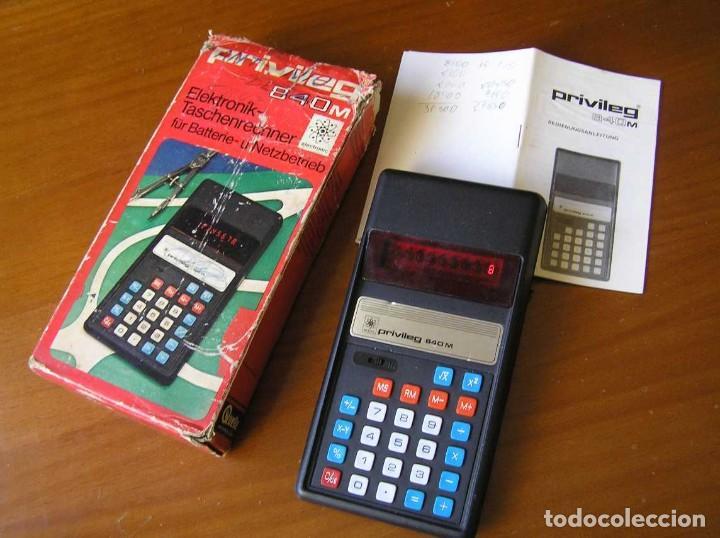 Vintage: ANTIGUA CALCULADORA PRIVILEG 840 M DE LOS AÑOS 70 FUNCIONANDO CALCULATOR ELEKTRONIK-TASCHENRECHNER - Foto 13 - 110878835