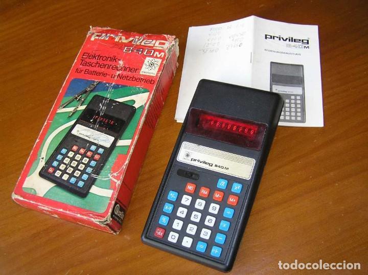 Vintage: ANTIGUA CALCULADORA PRIVILEG 840 M DE LOS AÑOS 70 FUNCIONANDO CALCULATOR ELEKTRONIK-TASCHENRECHNER - Foto 15 - 110878835