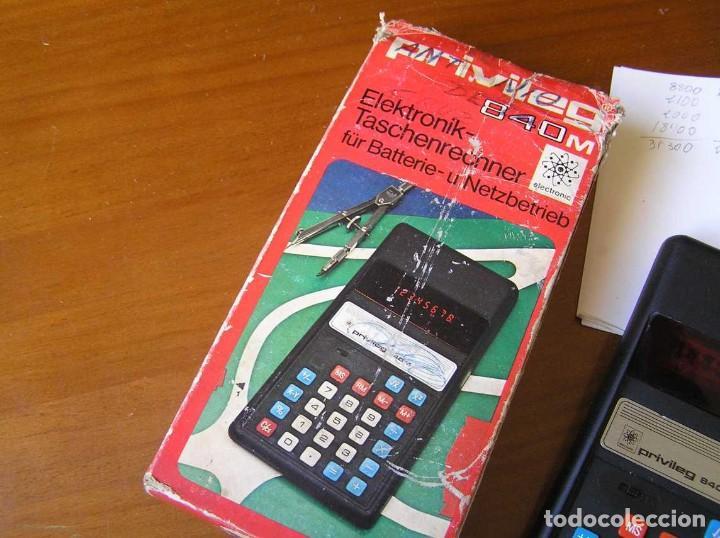 Vintage: ANTIGUA CALCULADORA PRIVILEG 840 M DE LOS AÑOS 70 FUNCIONANDO CALCULATOR ELEKTRONIK-TASCHENRECHNER - Foto 17 - 110878835