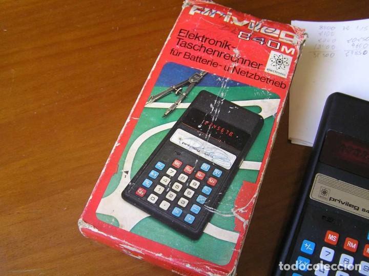 Vintage: ANTIGUA CALCULADORA PRIVILEG 840 M DE LOS AÑOS 70 FUNCIONANDO CALCULATOR ELEKTRONIK-TASCHENRECHNER - Foto 19 - 110878835