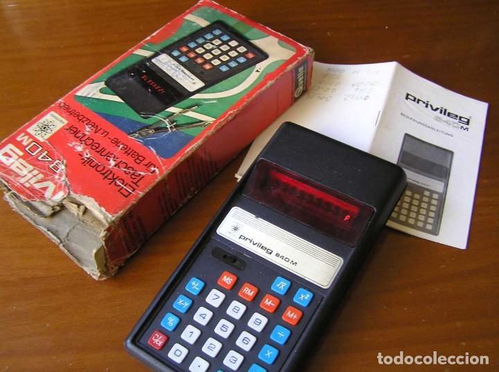 Vintage: ANTIGUA CALCULADORA PRIVILEG 840 M DE LOS AÑOS 70 FUNCIONANDO CALCULATOR ELEKTRONIK-TASCHENRECHNER - Foto 28 - 110878835
