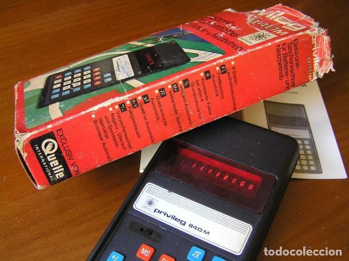 Vintage: ANTIGUA CALCULADORA PRIVILEG 840 M DE LOS AÑOS 70 FUNCIONANDO CALCULATOR ELEKTRONIK-TASCHENRECHNER - Foto 31 - 110878835