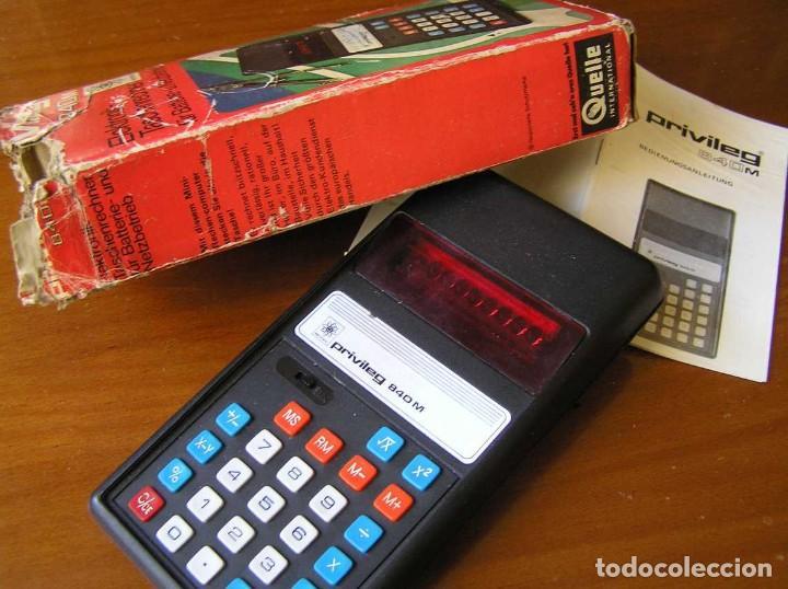 Vintage: ANTIGUA CALCULADORA PRIVILEG 840 M DE LOS AÑOS 70 FUNCIONANDO CALCULATOR ELEKTRONIK-TASCHENRECHNER - Foto 33 - 110878835