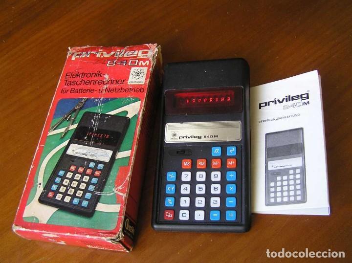 Vintage: ANTIGUA CALCULADORA PRIVILEG 840 M DE LOS AÑOS 70 FUNCIONANDO CALCULATOR ELEKTRONIK-TASCHENRECHNER - Foto 40 - 110878835