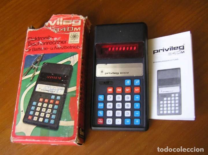 Vintage: ANTIGUA CALCULADORA PRIVILEG 840 M DE LOS AÑOS 70 FUNCIONANDO CALCULATOR ELEKTRONIK-TASCHENRECHNER - Foto 41 - 110878835
