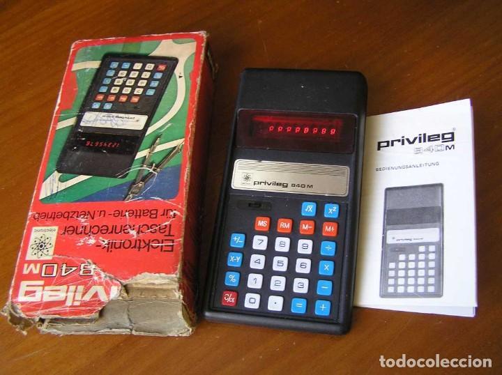 Vintage: ANTIGUA CALCULADORA PRIVILEG 840 M DE LOS AÑOS 70 FUNCIONANDO CALCULATOR ELEKTRONIK-TASCHENRECHNER - Foto 42 - 110878835