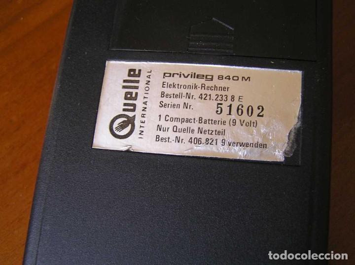 Vintage: ANTIGUA CALCULADORA PRIVILEG 840 M DE LOS AÑOS 70 FUNCIONANDO CALCULATOR ELEKTRONIK-TASCHENRECHNER - Foto 56 - 110878835