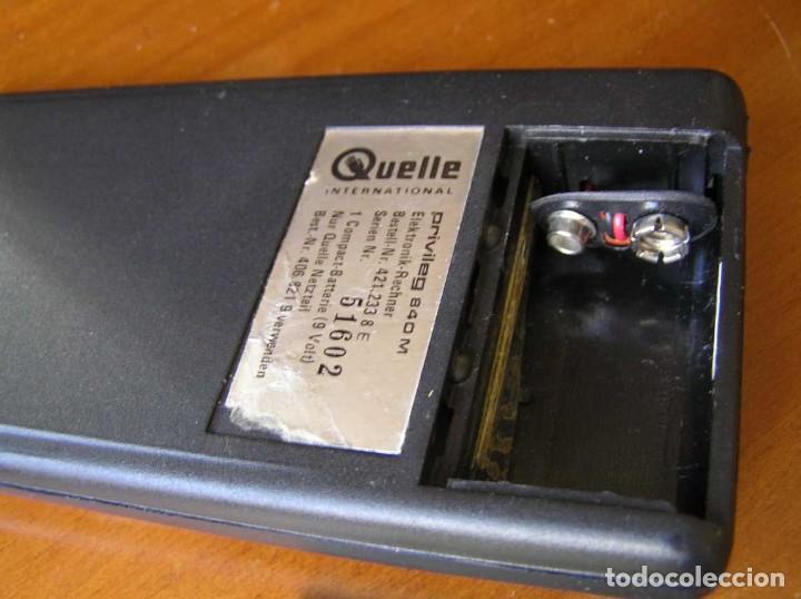 Vintage: ANTIGUA CALCULADORA PRIVILEG 840 M DE LOS AÑOS 70 FUNCIONANDO CALCULATOR ELEKTRONIK-TASCHENRECHNER - Foto 65 - 110878835