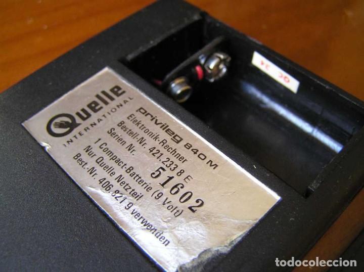 Vintage: ANTIGUA CALCULADORA PRIVILEG 840 M DE LOS AÑOS 70 FUNCIONANDO CALCULATOR ELEKTRONIK-TASCHENRECHNER - Foto 68 - 110878835