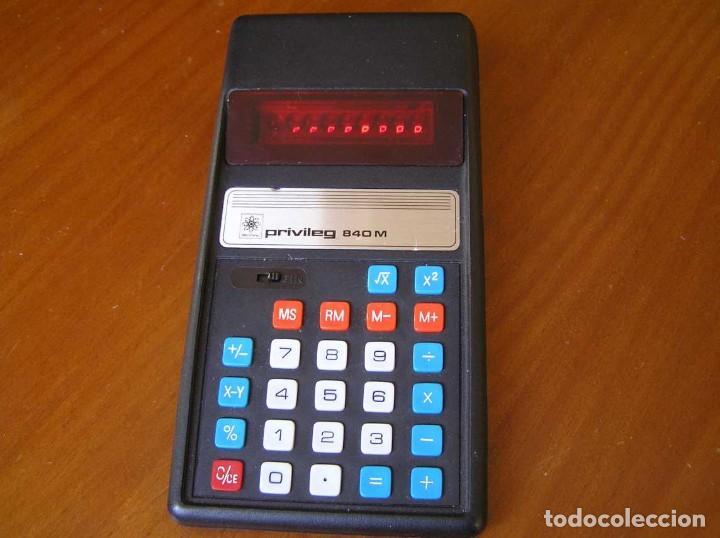 Vintage: ANTIGUA CALCULADORA PRIVILEG 840 M DE LOS AÑOS 70 FUNCIONANDO CALCULATOR ELEKTRONIK-TASCHENRECHNER - Foto 70 - 110878835