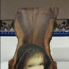 Vintage: VIRGEN CON EL NIÑO JESUS SOBRE TABLA MADERA.. Lote 111386995