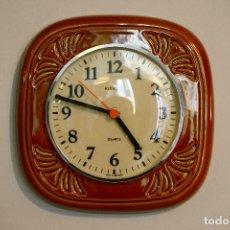 Vintage - reloj de pared vintage años 70 cerámica kienzle - 111759711